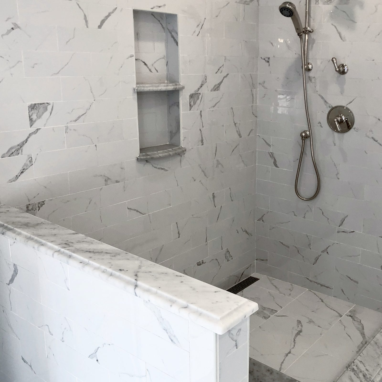 Natural stone in shower
