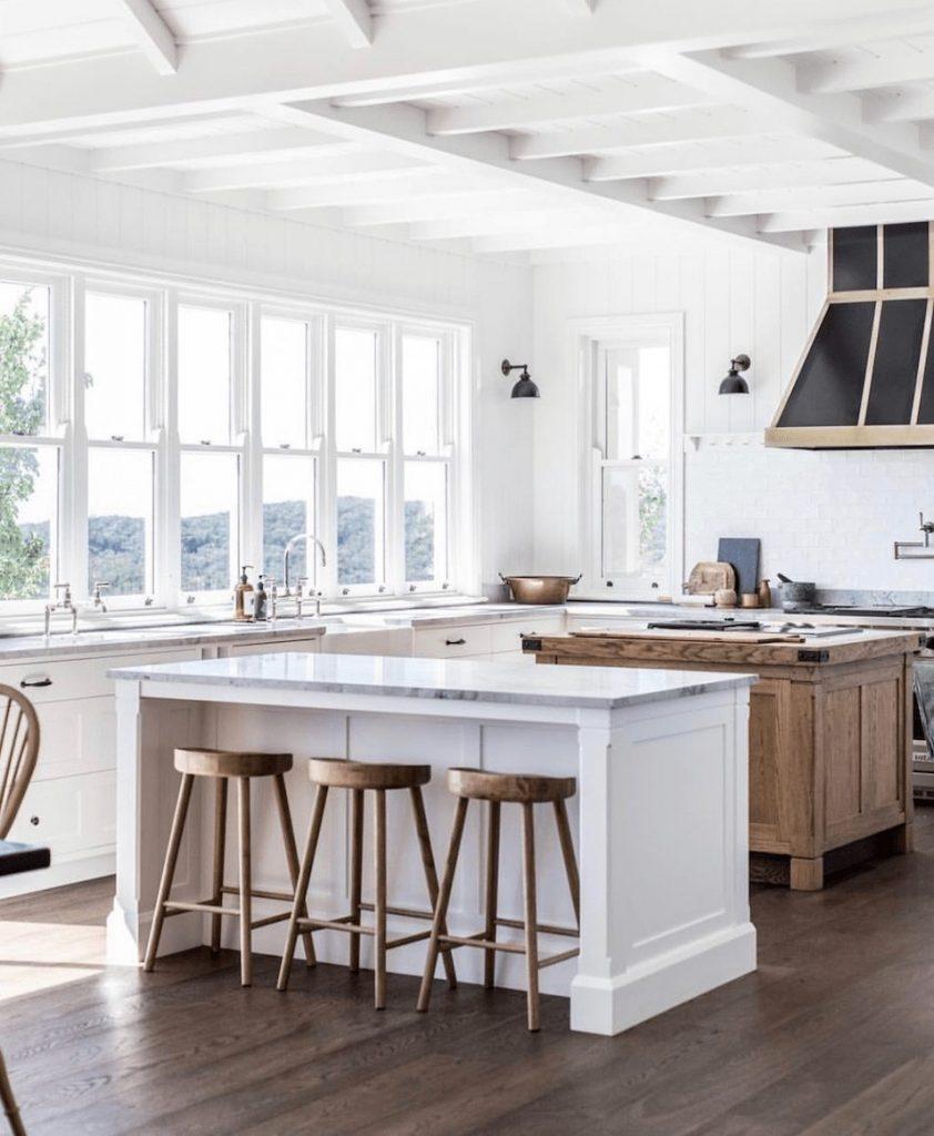 Double island kitchen.